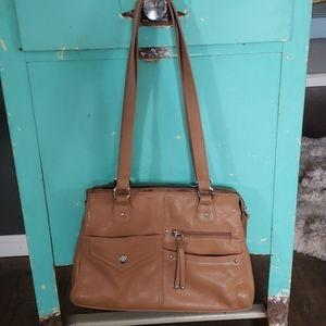 Stone and company taupe purse
